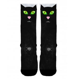 Meias Elite - Meia divertida - Gato Preto