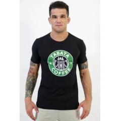 Camiseta Masculina Coffe Preto KVRA