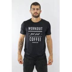 Camiseta Masculina Workout Preto/Branco KVRA