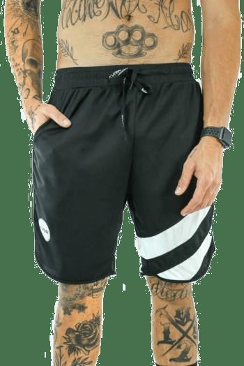 Shorts Masculino Flow Preto/Branco KVRA