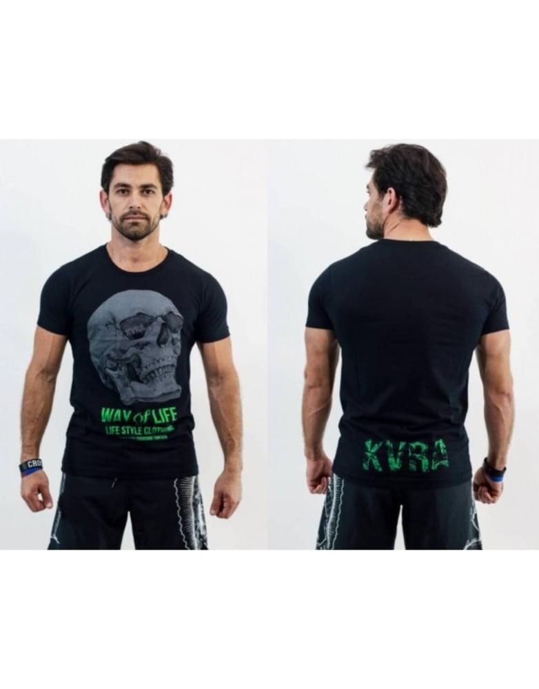 Camiseta Masculina Way of Life Preto KVRA